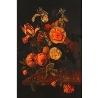 Glasschilderij 80x120 Bloemen