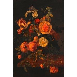 Ter Halle Glasmalerei 80x120 Blumen