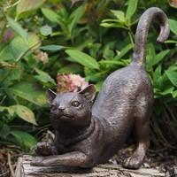 Bronzen gestrekte kat