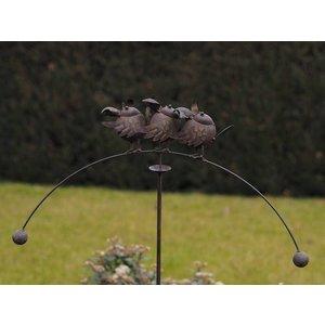 Eliassen Garden stick balance 3 birds