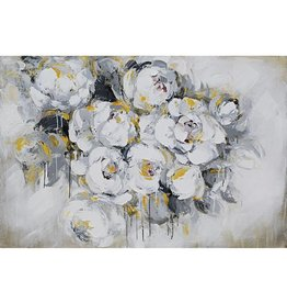 Eliassen Oil painting 140x70cm White roses