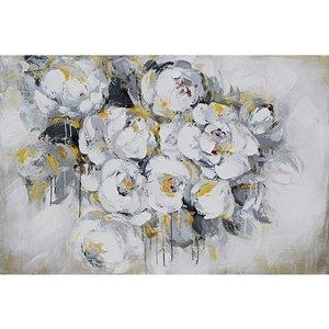 Eliassen Ölgemälde 140x70cm Weiße Rosen