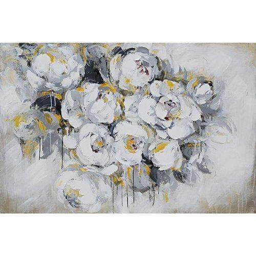 Eliassen Olieverf schilderij 140x70cm Witte rozen