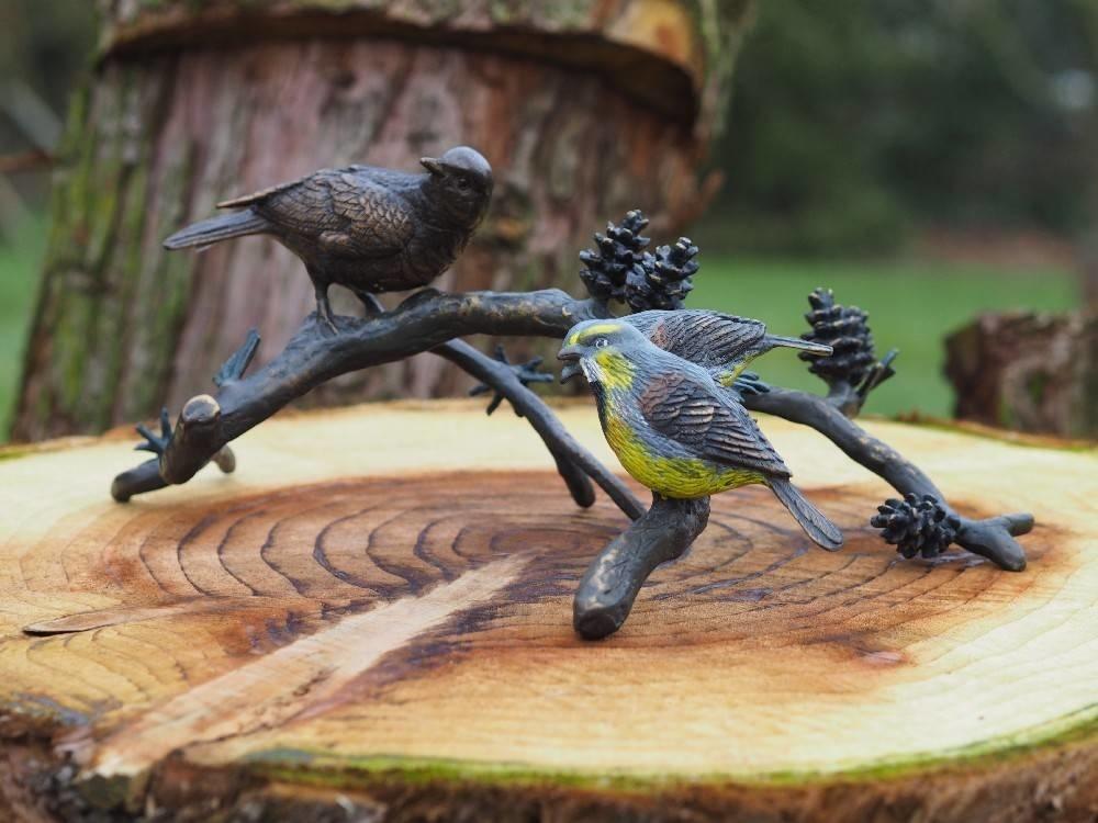 bronze vögel auf ast - eliassen home & garden pleasure
