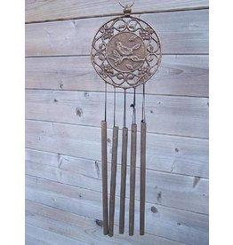 Eliassen Bronze wind chimes with bird decoration