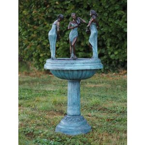 Eliassen Bronze fountain with 3 women