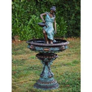 Eliassen Bronze woman with jug of fountain