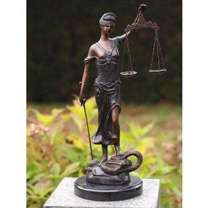 Eliassen Small woman Justitia bronze