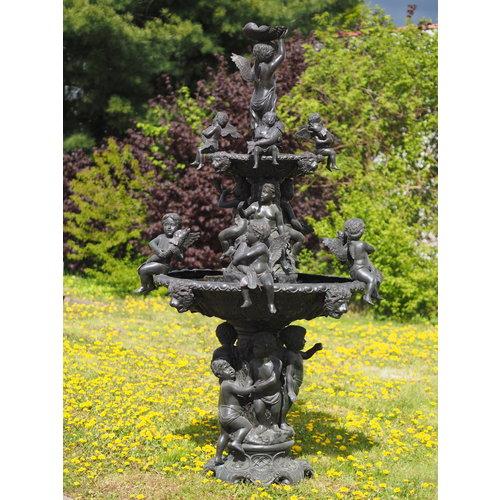 Eliassen Bronze fountain with cherubs