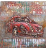 Eliassen 3D-Malerei Porsche 100x100cm