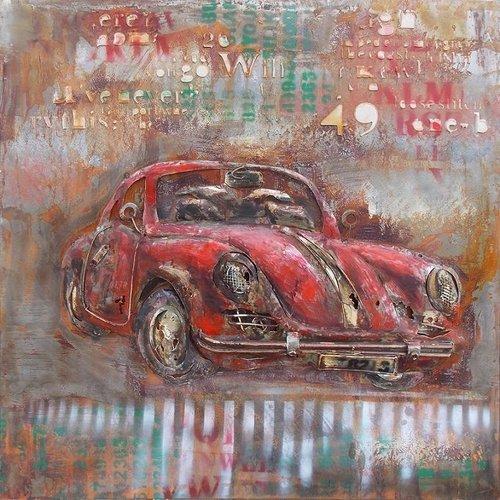 Eliassen 3D painting Porsche 100x100cm
