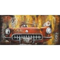 3D Gemälde Sportscar 60x120cm