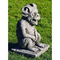 Gargoyle Troll groß mit Hörnern