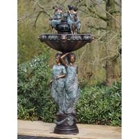 Brunnen Bronze mit 3 Frauen