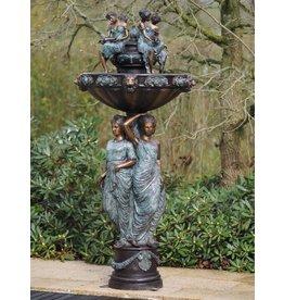 Eliassen Brunnen Bronze mit 3 Frauen