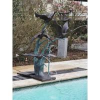 Fountain bronze 4 ducks