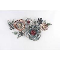 3d wand decoratie Bloemen metaal