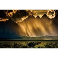 Foto auf Glasmalerei 80x120cm Sturm