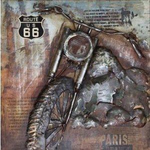 Eliassen 3D-Malerei Metall 100x100cm Route 66