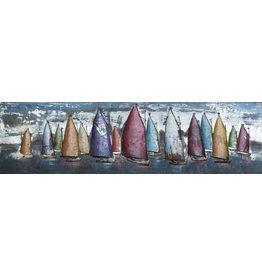 Eliassen 3D painting metal 50x180cm Sailing