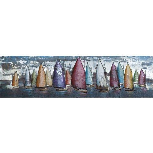 Eliassen 3D Gemälde Metall 50x180cm Segeln