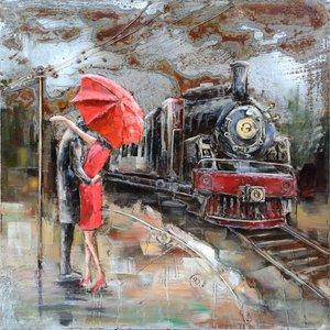 Eliassen 3D painting metal 100x100cm Farewell