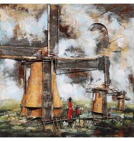 Eliassen 3D painting metal 100x100cm Holland