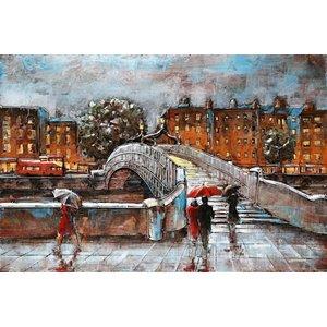 Eliassen Schilderij 3d Brug 1   metaal 80x120cm
