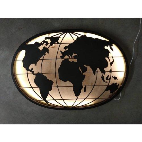 Eliassen Wall decoration Globe with Led lighting