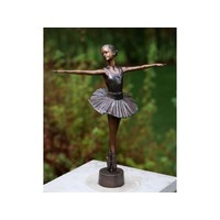 Beeld brons ballerina 33cm