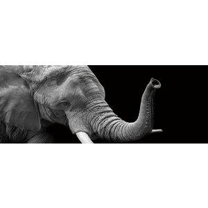 Eliassen Gemälde Glas 60x160cm Elephant1
