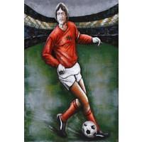 Malerei Metall 3d 80x120cm Fußballspieler