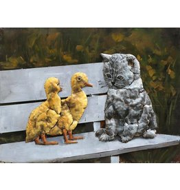 Eliassen Malerei 3d 60x80cm Katze mit Küken