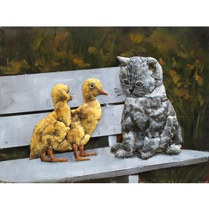 Eliassen Painting 3d 60x80cm Cat with chicks