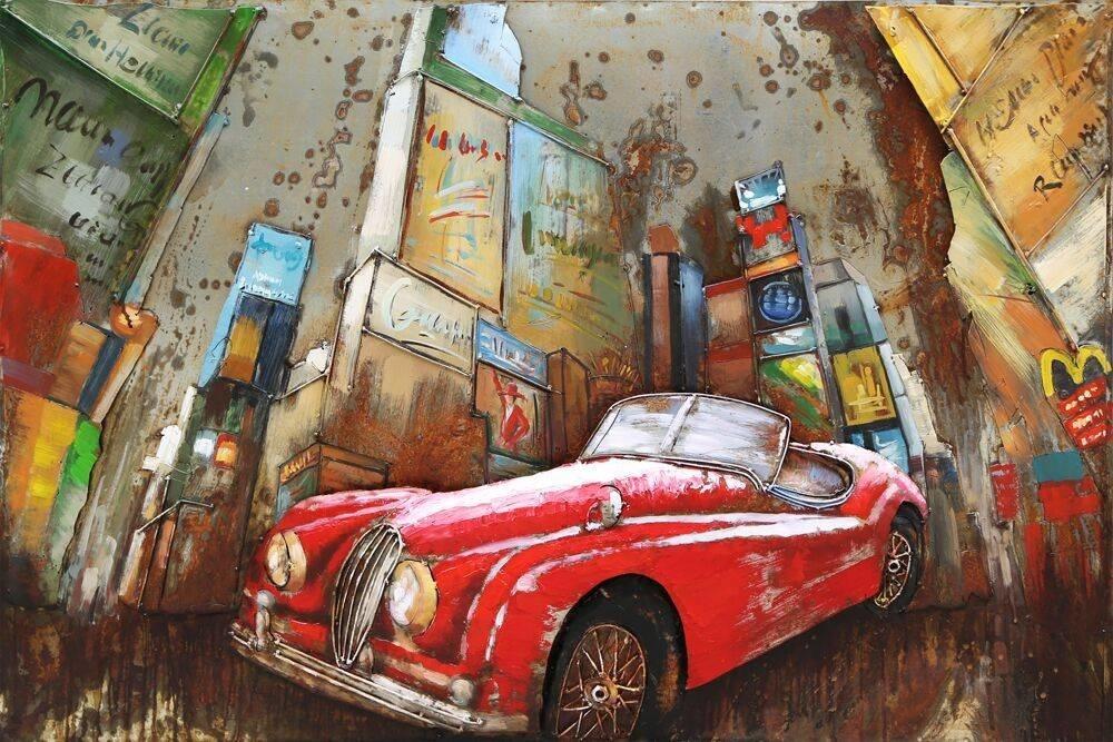 Eliassen 3D schilderij metaal 120x80x7cm Stad