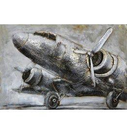 Eliassen 3D schilderij metaal 120x80x7cm Airplane
