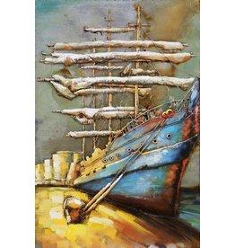 Eliassen 3D schilderij metaal 120x80x7cm Aan De Kade