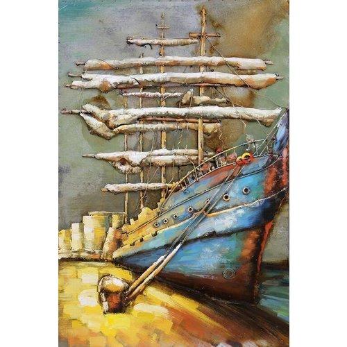 Eliassen 3D painting metal 120x80x7cm Aan De Kade