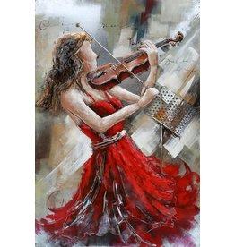 Eliassen 3D painting metal 120x80x7cm Violinist