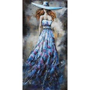 Eliassen 3D-Malerei Metall 70x140x7cm Lady Blue
