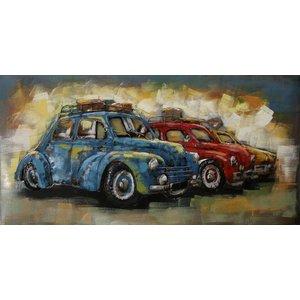 Eliassen Metalen 3d schilderij Rij Auto's
