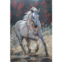 Painting metal 3d 80x120cm Horse solo