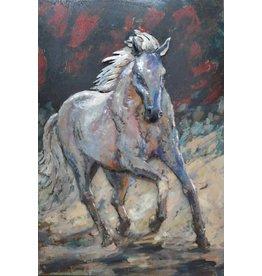 Eliassen Schilderij metaal 3d 80x120cm Paard solo