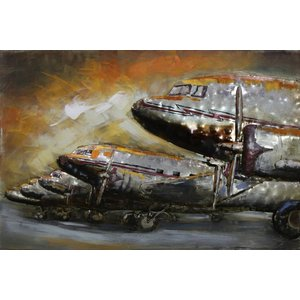 Eliassen Malerei Metall 3d 80x120cm Reihe Flugzeuge