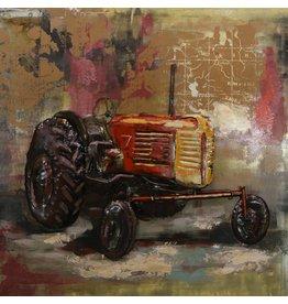 Eliassen 3D schilderij tractor 100x100cm  -