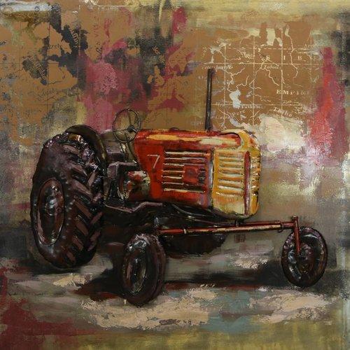 Eliassen 3D painting tractor 100x100cm -