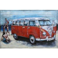 Metaal schilderij  VW bus 80x120cm
