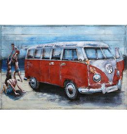 Eliassen Metaal schilderij  VW bus 80x120cm