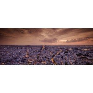 MondiArt Paris glass painting in evening light 180x70cm