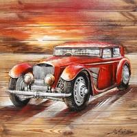 Malerei 3d Holz 91x91cm Limo